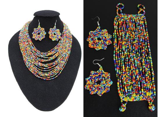 Juego De Collar 24 Hilo De Chaquira