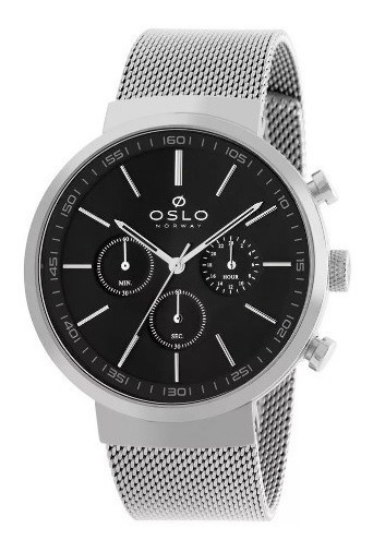Relógio Oslo Ombsscvd0001 + Garantia De 1 Ano + Nf