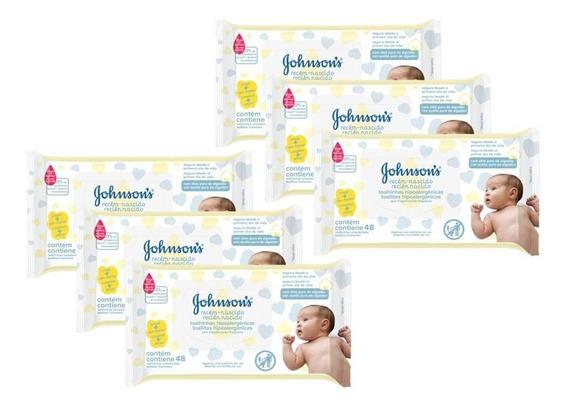 Lenços Umedecidos Johnsons Baby Rn Sem Fragrância C/288 Un.
