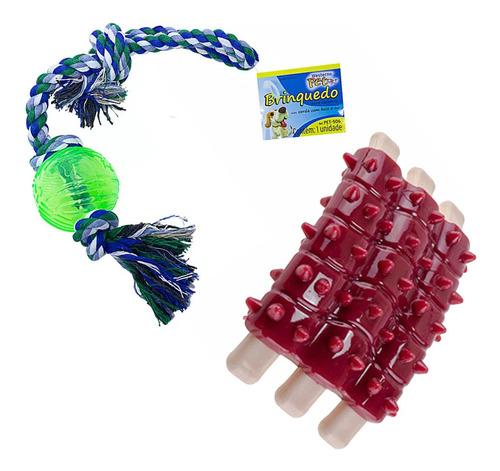 Imagem 1 de 1 de 2 Brinquedos Para Pet Cachorro Corda E Mordedor Com Aroma