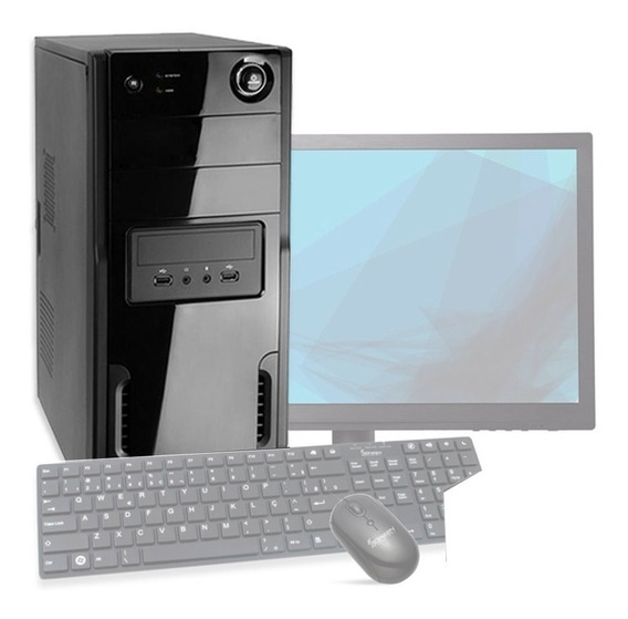 Computador Cpu Pc + Monitor + Teclado + Mouse Usados Brinde