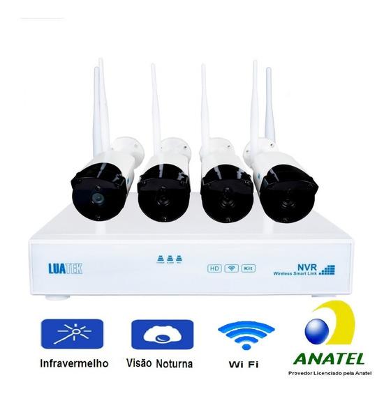 Jogo 4 Câmeras Externa/interna Wifi Infravermelho Segurança!