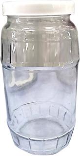 Frasco De Vidrio 1 Kg Con Tapa Rosca Plastica