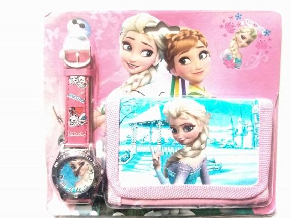 Frozen Relógio Infantil Analógico + Carteira + Brinde