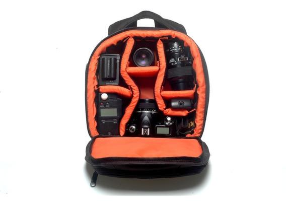 Mochila Para Fotografia Câmera Digital Canon Nikon Sony Vmb2