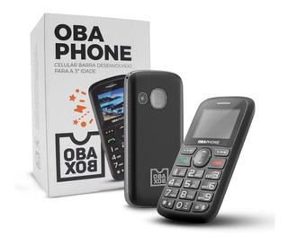Telefone Celular Fácil De Usar Obafone Barra Original Obabox