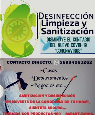 Desinfección, Limpieza Y Sanitizacion.Manten Tu Casa, Depar