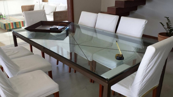 Mesa De Jantar Artefacto Retangular Tampo Vidro