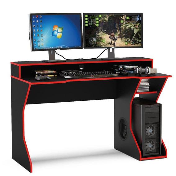 Mesa Para Computador Gamer Politorno Fremont 2 Pcs Mdp 130cm