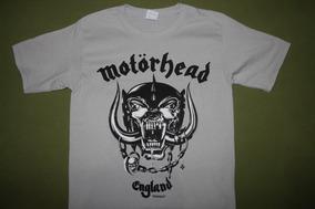 Gusanobass Playera Rock Metal Motorhead England Gris S
