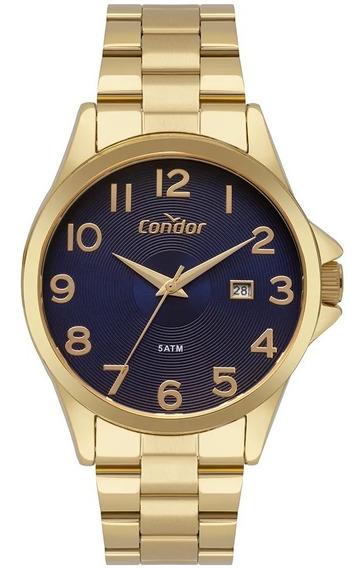 Relógio Condor Masculino Casual Dourado Co2115ktt/4a
