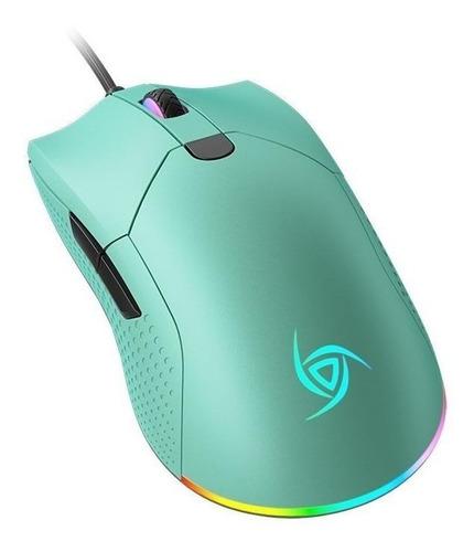 Imagen 1 de 5 de Mouse de juego VSG  Aurora azul polar