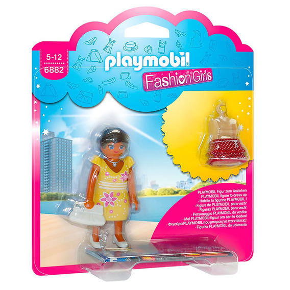 Mini Figuras Playmobil - 7 Cm - Fashion Girls - Moda Verão -