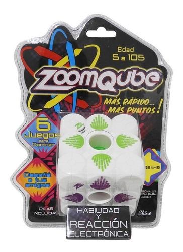 Imagen 1 de 6 de Zoomqube Shine Cubo C/luz-sonido Juego Habilidad Y Reacción
