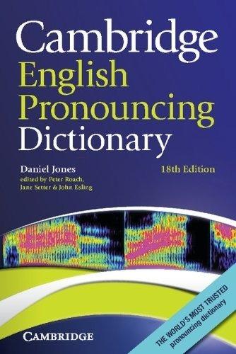 Cambridge English Pronouncing Dictionary - 18th Edition - Jo