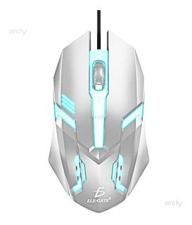 Archy Mouse Alambrico Gamer Gaming Con Luz 3 Botones Raton