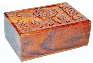 Caja Con Diseño De Atrapa Sueños Ideal Para Tarot