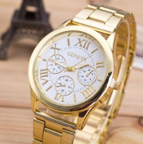 Relógio Feminino Dourado Importado
