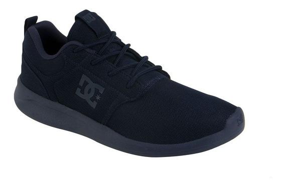 Tenis Dc Hombre Azul Oscuro Midway Sn Mx Shoe Adys700136nn1