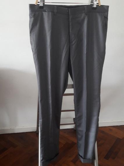 Pantalón Vestir Polo Gris Hombre Traje