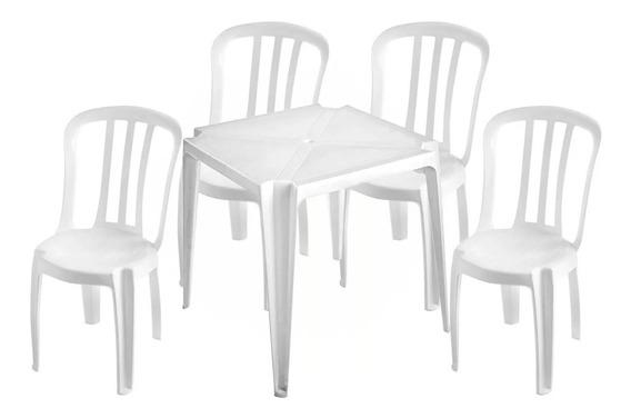 Conjunto De Mesas E Cadeiras De Plástico Para 182 Kg
