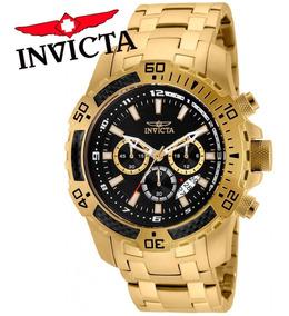 Relógio Invicta Pro Diver 24855 Ouro 18k Masculino Orig + Nf