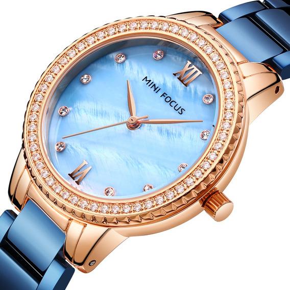 Luxo Marca Moda Estilo Mulheres Relógio De Pulso Diamante Se