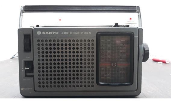 Rádio Portátil Usado Sanyo Modelo Rp 7160n Funcionando