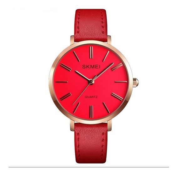 Relógio Feminino Skmei Analógico 1397 -vermelho Rose Fashion