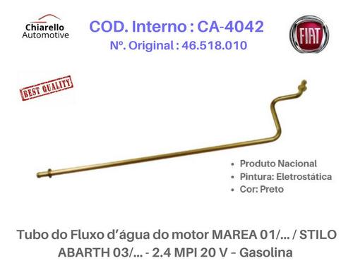 Tubo Dágua Marea Stilo Abarth Mpi 2.4 20v Gasolina