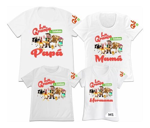 Camiseta Set 4 Familia Papa Mama Hijos La Granja De Zenon