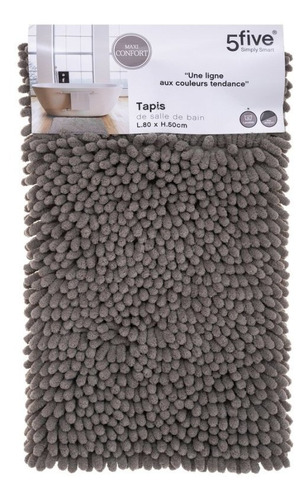 Tapete Baño Maxi Chenille 50x80 Taupe 160822g