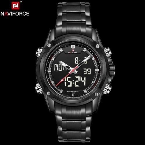Relógio Naviforce Nf-9050 Masculino Analógico Digital Preto
