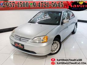 Honda Civic Ex 1.7 Prata 2003 Financiamento Próprio 5771