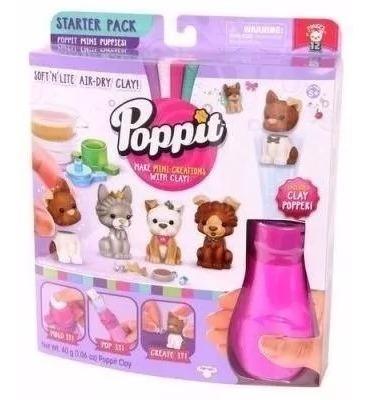 Poppit Set De Inicio Mini Cachorros Creá Con Plastilina