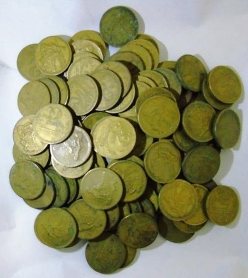 Lote 20 Vinte Moedas Antigas 2 Cruzeiros Rara Fazer Alianças