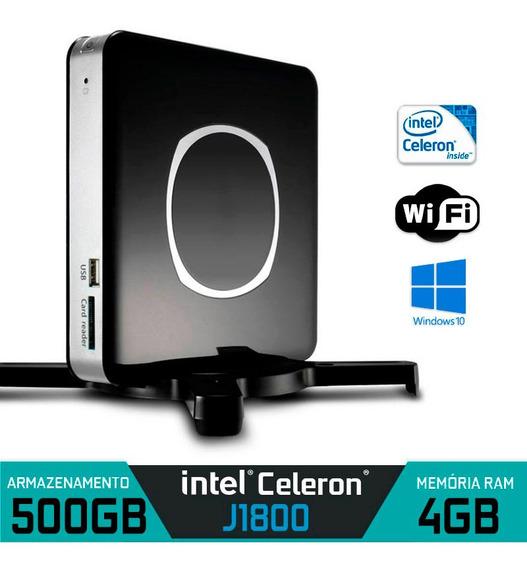Nano Pc Intel Dual Core Ram 4gb Hd 500gb Win 10 C/ Wifi