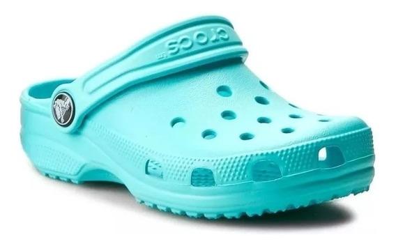 Crocs Classic Sueco Goma Verde Agua Hombre Mujer Original