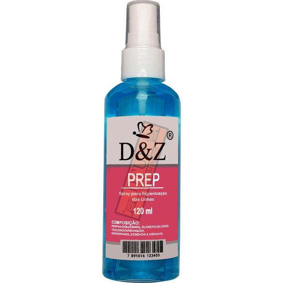 Spray Prep D&z Para Cuidados Da Unha -higieniza 120 Ml