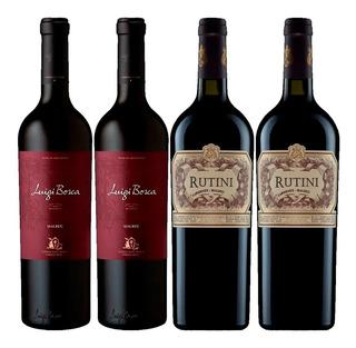 Vino Rutini Cabernet Malbec + Vino Luigi Bosca Malbec 750ml