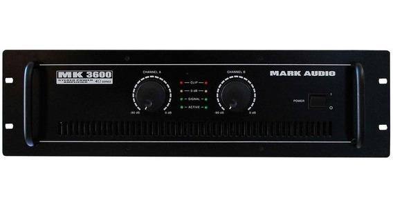 Amplificador Potência Mark Audio Mk 3600 600wrms Mk3600