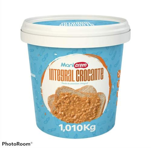 Imagem 1 de 3 de Manicrem Pasta De Amendoim Integral 100% Amendoim - 1kg
