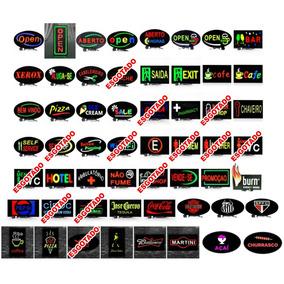5 Placa De Led 43x23 Letreiro De Sinalização Luminoso Neon
