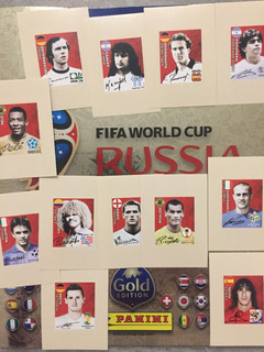 Album Copa 2018 Gold Panini Vazio+set 12 Legends Ed. Suiça