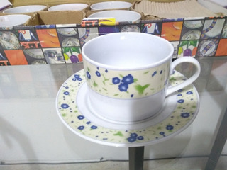 Juego Tazas De Te 12 Piezas Antiguo 20 Años Porcelana