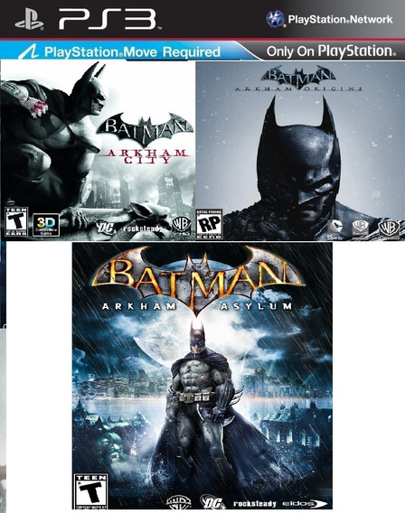 Batman Arkham City + Origins + Asylum Psn Ps3 Envio Ja