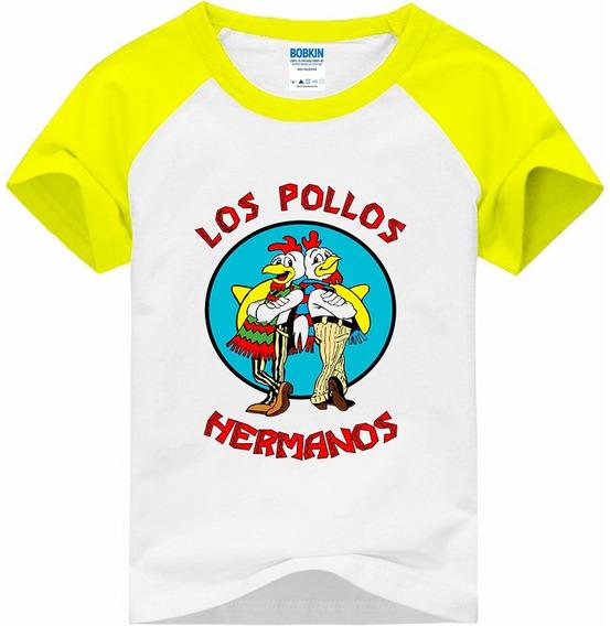 Camiseta Raglan Infantil Los Pollos Hermanos - Breaking Bad