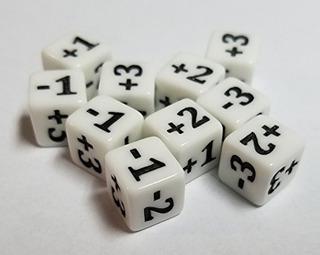Quempire 10x Dados Blancos Minimalistas Para Juegos Como Mag