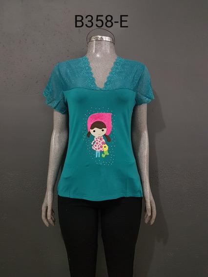 Blusa Juvenil Estampada,varios Diseños 10 Pzs + Envio Gratis!