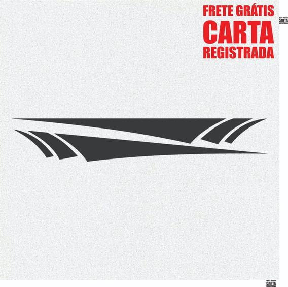 Kit Par De Adesivos Faixa Friso Laterais Carro 150cm A457